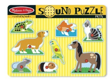 Melissa and Doug - Melissa and Doug Pets Sound Puzzle USA / Wood Puzzle / Wooden Parish / Melissa and Doug Butterfly Agents Other World