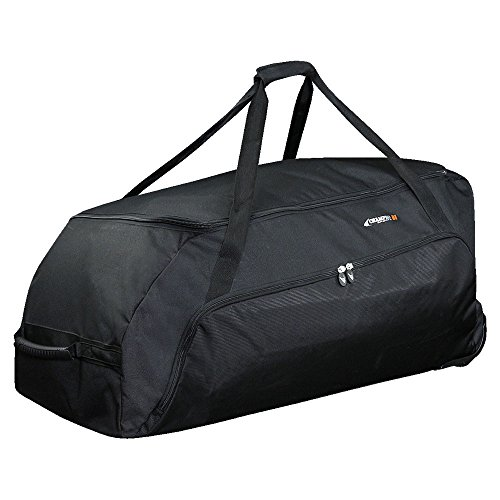 Champro Jumbo All Purpose Bag with Wheels (Black, 36 x 16 x 18)
