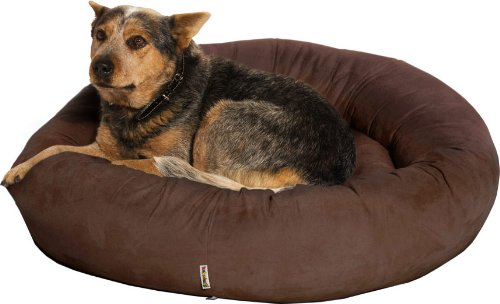 Kakadu Pet Plump Donut Bolster Dog Bed, Large, 31 1/2-Inch by 8-Inch, Rich  Brown, My Pet Supplies