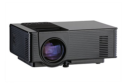 1080P Mini Projector for Watching World Cup, Led Projector, Amgaze Video Projector, Home Theater Cinema with HDMI AV VGA USB SD for PC Laptop iPad Smartphone (Black) by Amgaze (Image #1)