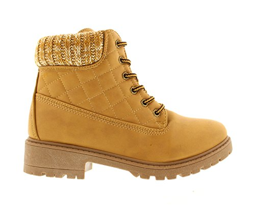 Gold Toe Women's Faux Suede Lace Up Hiking Military Fashion Combat Outdoor Boot,Slip-Resistant Work Shoes