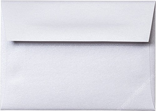 A-1 RSVP (4 Bar) Pearl White Metallic Envelopes (Straight Flap, 3 5/8