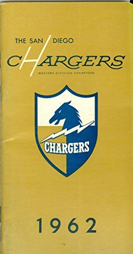 San Diego Chargers 1962 press media guide nm