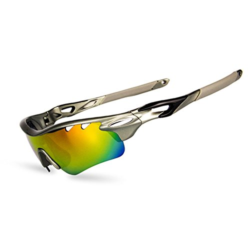 Polarized Sports Sunglasses with 5 Interchangeable Lenses for Men Women Cycling Baseball Running Fishing Driving Golf Fashion Glasses Tr90 Unbreakable Frame - Sunglasses Prism Sale