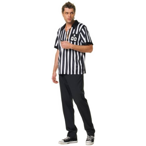 Referee Adult Costume - (Soccer Ref Halloween Costumes)