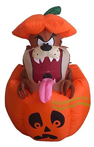 - Halloween Inflatable Tazmanian Devil In Pumpkin Looney Tunes Airblown Decoration