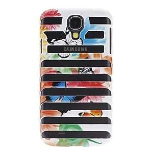 ZCL-Diseño de la mariposa raya estuche rígido estilo Hollow-Out para Samsung i9500 Galaxy S4