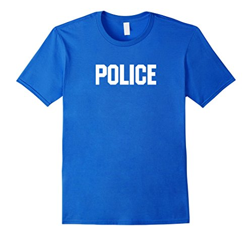 Mens Police Officer Halloween Costume T-Shirt Small Royal Blue - Diy Halloween Costumes Police