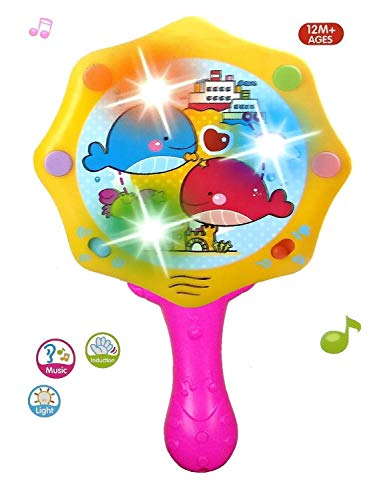 BabyGo Hand Drum Musical Toy for Baby Hand Exercise and Muscle Building(Pink & Yellow) (B07NZ1QMBQ) Amazon Price History, Amazon Price Tracker