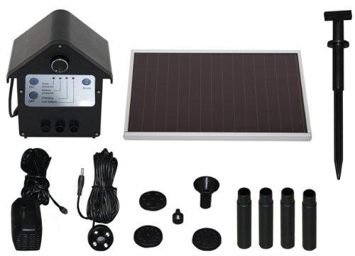 T.I.P. Solar Teichpumpe SPS 250/6, LED Beleuchtung, 3 W, bis 250 l/h Fördermenge für Gartenteich oder Springbrunnen