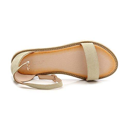 Sommer Student Sandalen Einfache Weibliche Flache Aqua Römische White Sandalen wUIUqd