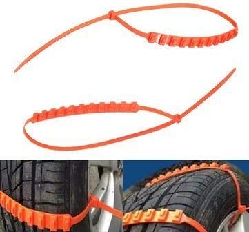 Zeagro 10 Piece Anti-skid Chains for Automobiles Snow Mud Wheel Tyre Car//Truck Tire Cable Ties