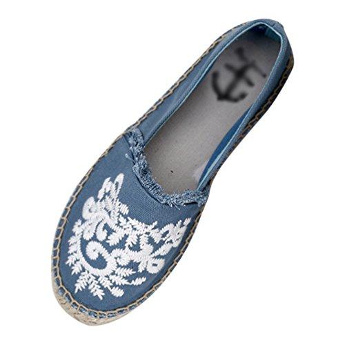 Comfort Scarpe col per Blu Piatto Xinwcang Tacco Donna Guidare Scarpe Espadrillas Pompe Casuali Camminare Basso o 0f5aBwq