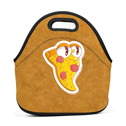 Lunch Bag Food Box Portable Carry Storage Tote Picnic Handbag School Work Office Print Pizza Strawberry for $<!--$19.98-->