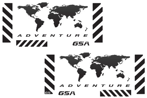 The Pixel Hut gs00002b - Adventure Motorcycle Reflective Decal Kit