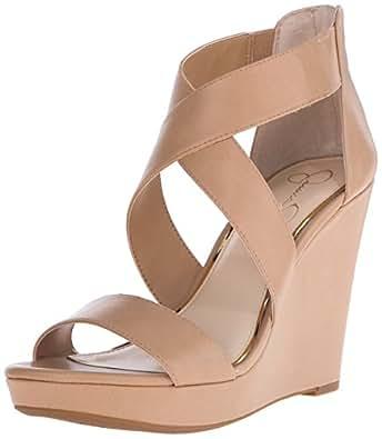 Jessica Simpson Women's Jinxxi Wedge Sandal, Ambra, 7.5 M US