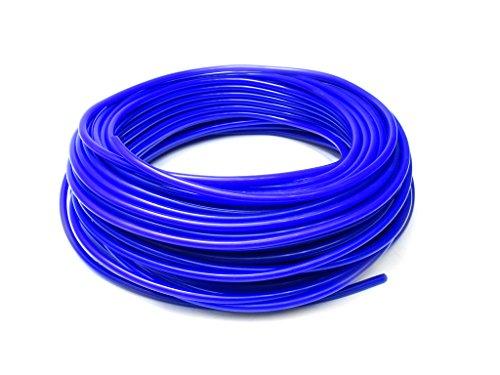 HPS HTSVH6-BLUEx50 Blue 50' Length High Temperature Silicone Vacuum Tubing Hose (60 psi Maxium Pressure, 1/4'' ID) by HPS