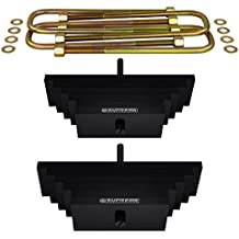 """Supreme Suspensions - 3"""" Leaf Spring Pack + Extended Zinc Plated U-Bolts for 1980-2004 Ford F250 F350 SuperDuty 4WD"""