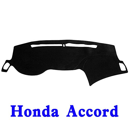 (JIAKANUO Dash Cover Fit for Honda Accord 2013-2017, Dashboard Mat Sunshield Protector Pad Non-Slip,Antiglare,Extra Thick (Black) MR071)