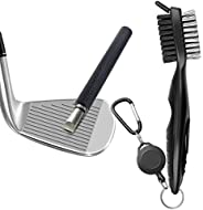 Golf Tool Set, Gzingen Golf Club Groove Sharpener and Retractable Golf Club Brush, Re-Grooving Tool and Cleane