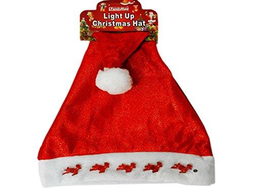 CHRISTMAS HAT DEER LIGHT UP28X40CM , Case of 144