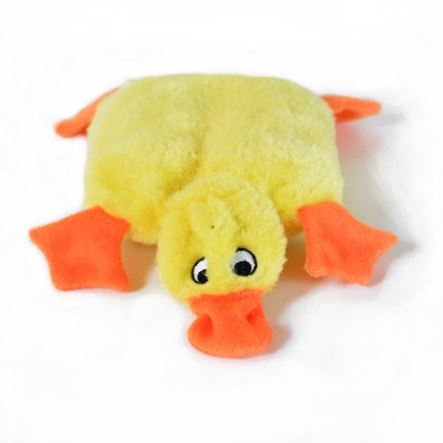 ZippyPaws Squeakie Pad No Stuffing Plush Dog Toy, Duck, My Pet Supplies
