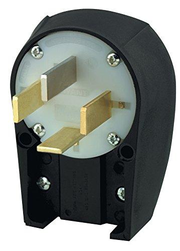 Bryant Electric 8362ANPB Angle Plug, Industrial Grade, Grounding, NEMA 18-60P, 3 Phase Y 120/208 VAC, 60 Amp, Black/White