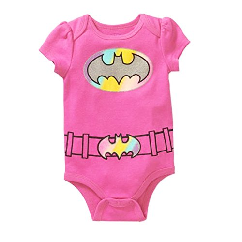 DC Comics Batgirl Baby Girls Bodysuit One Piece Dress Up Outfit Pink 6-9 Months (2)