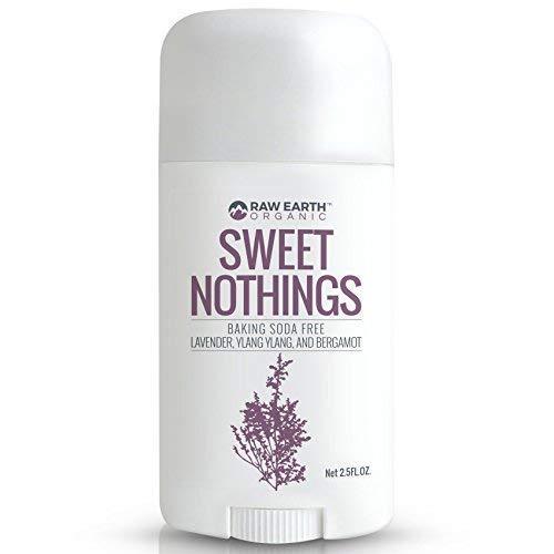 Raw Earth Organic All Natural Vegan Magnesium Deodorant - Baking Soda & Aluminum Free - Lavender / Ylang Ylang / Bergamot (2.5oz)