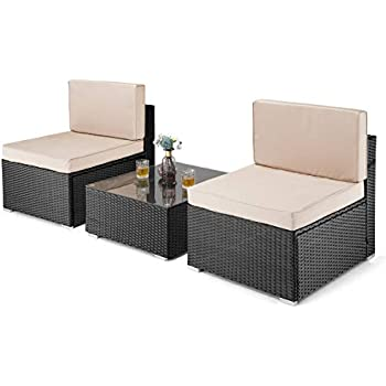 Amazon Com Pamapic 3 Pieces Patio Furniture,outdoor