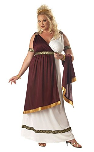 POPLife Roman Empress Toga Plus Size Adult Costume (Roman Empress Plus Size Costume)