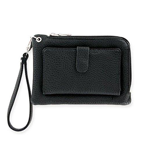 Metropolitan Mobility Smartphone Wristlet, Black Pebbled Leather, One Size