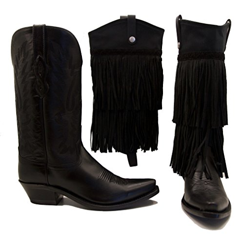 Old West Boots With Black Fringe BootRoxx Size 8 (Old West Outfit)