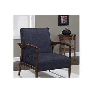 Amazon Com Dark Blue Indigo Retro Arm Fabric Accent Chair