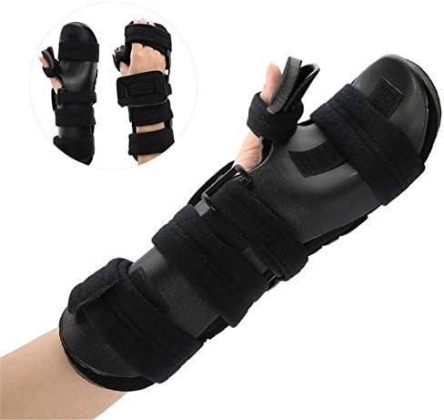 DYHQQ Schlaganfall-Handschiene- Weiche, ruhende Handschiene für Flexionskontrakturen, Bequeme Dehnung und langzeiterholte Hände mit funktioneller Handschiene