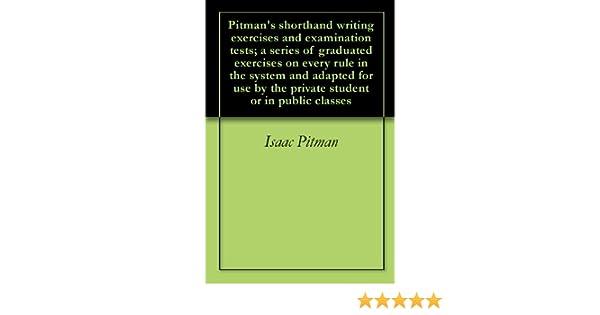 Amazon.com: Pitman's shorthand writing exercises and examination ...