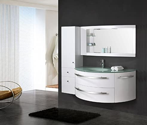 """LUXUS4HOME Design Badmöbel Set """"Côte d\'Azur"""" Weiß Hochglanz ..."""