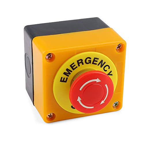 - Emergency Stop Button 660V 10A Red Sign Weatherproof Self Locking Emergency Stop Push Switch 1 Pieces