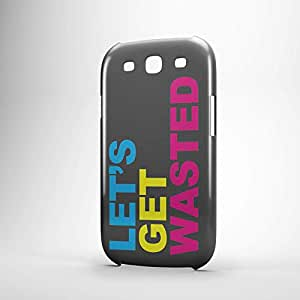 lets get wasted Samsung S3 3D wrap around Case - Typography