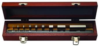 """Mitutoyo Steel Rectangular Micrometer Inspection Gage Block Set, ASME Grade 0, 0.0625 - 2.0"""" Length (9 Blocks)"""
