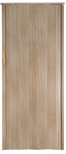 Falttür Schiebetür Tür asche (hellgrau) farben Höhe 202 cm Einbaubreite bis 96 cm Doppelwandprofil Neu