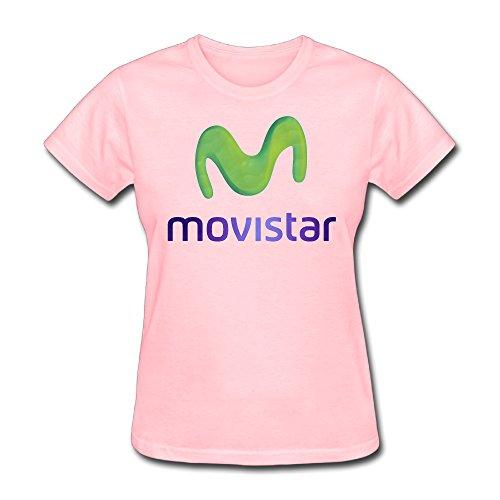 ladies-movistar-logo-o-neck-tee-shirts