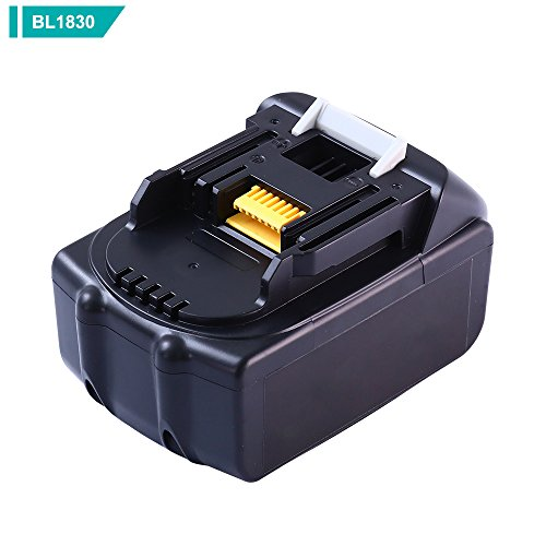 3000mAh for Makita 18v Battery LXT Lithium-Ion Replacement BL1850 BL1840 BL1845 BL1830 LXT400 Cordless Power Tools Batteries(1-Pack) by Eagglew