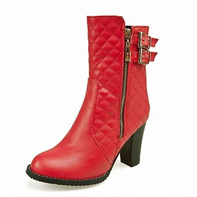 RTRY Women'S Boots Spring Fall Winter Comfort Novelty Patent Leather Leatherette Wedding Office &Amp; Career Dress Casual Party &Amp; Eveningchunky US1.5 / EU33 / UK14 Little Kids d17PMvhG