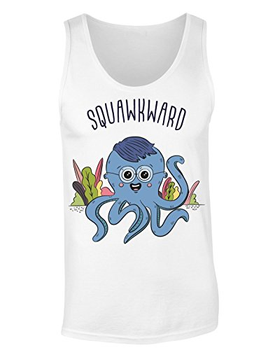 Squawkward Awkward Squid With Oversized Glasses T-shirt senza maniche per Donne Shirt
