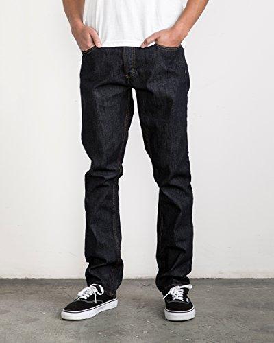 - RVCA Young Men's Stay Denim Jean Pants, deep Indigo, 29