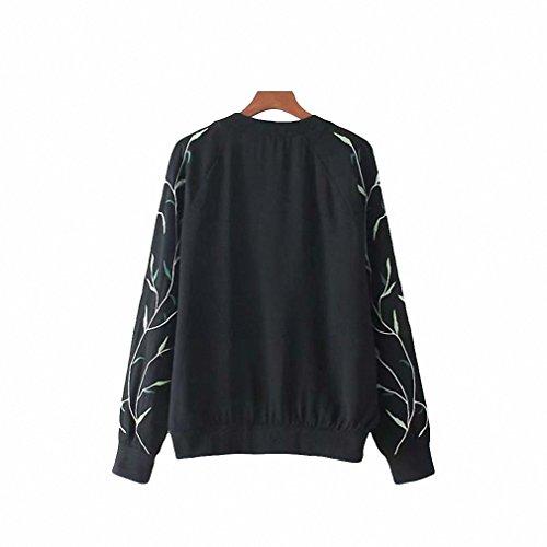 Amazon.com: Women Elegant Floral Embroidery Bomber Jacket Sweet Flight Jackets Female Casual Coat Outerwear Tops Chaqueta Capa Ct1515: Clothing