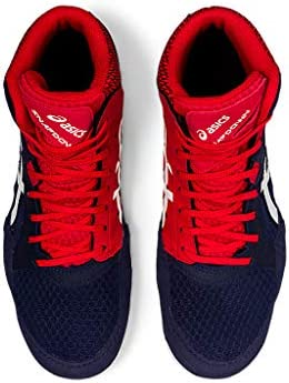 41nRmDnU75L. AC ASICS Men's Snapdown 3 Wrestling Shoes    Made in USA or ImportedBreathable Mesh Upperkimono tongue inspiration provides a better foothold and an improved fitSynthetic Leather and Mesh Upper: Lightweight, comfortable and breathable, enhancing performance and fit