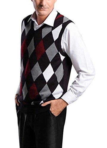 Cotton Argyle Sweater - 9