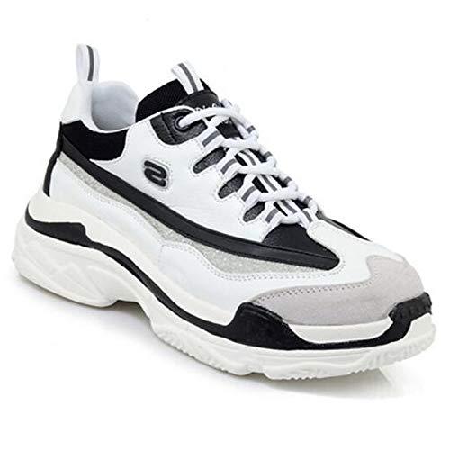 Estate White Comfort piatto Primavera ZHZNVX chiusa Tacco Nero Nappa Sneakers Bianco in Punta Scarpe donna pelle da xaw08S